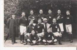 LUCON (VENDEE) SUPERBE CARTE PHOTO COLLEGE EUGENE BERTRAND 1912  FOOTBALL ASSOCIATION 1 ERE EQUIPE - Lucon