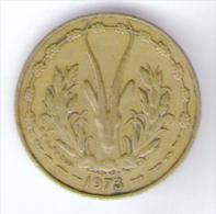 ETATS DE L´AFRIQUE DE L´OVEST 5 FRANCS 1973 - Monete