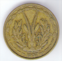 ETATS DE L´AFRIQUE DE L´OVEST 25 FRANCS 1957 - Monete