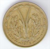 ETATS DE L´AFRIQUE DE L´OVEST 25 FRANCS 1976 - Monete