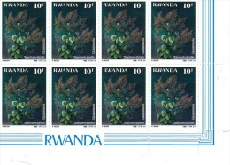 Bloc ** De 8 Timbres Block ** Of 8 Stamps  Plante Médicinale  Medicinal Plant Tetradenia Rwanda 1988 - Autres