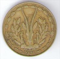 ETATS DE L´AFRIQUE DE L´OVEST 10 FRANCS 1971 - Monete
