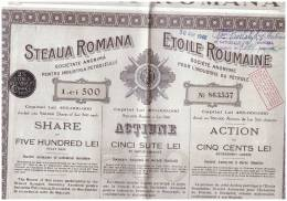 Action Steaua Romana     Etoile Roumaine Obligation  Roumanie Roumania - Azioni & Titoli