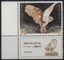 ISRAEL Poste 997 ** MNH + TAB : Hibou Chouette Eule Iul Owl Oiseau Biblique Tyto Alba - Ongebruikt (met Tabs)