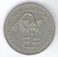 ETATS DE L´AFRIQUE DE L´OVEST 100 FRANCS 1970 - Monete