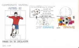 BARCELONA SOBRE DEL PRIMER DÍA CAMPEONATO MUNDIAL FUTBOL ESPAÑA 82 (FOOTBALL) - FDC