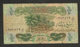 [NC] IRAQ -CENTRAL BANK Of IRAQ -  1/4 DINAR, 1/2 DINAR, 1 DINAR (LOT Of 3 DIFFERENT BANKNOTES) - Iraq