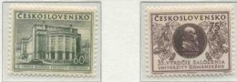 1955 Cecoslovacchia, Università Comenius Di Bratislava , Serie Completa Nuova (**) - Cecoslovacchia