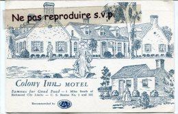 - Colony Inn MOTEL - Near RICHMOND - écrite En 1965, Splendide, Beau Timbre, TBE, Scans. - Non Classés