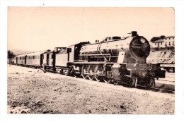 CPA - LOCOMOTIVES ESPAGNOLES-M.Z.A.- Le Rapide De Jour MADRID-SARAGOSSE-BARCELONE - F.G. - 1 - 087 - Trains