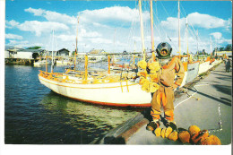 Sponge Diver And Sponge Boots In Tarpon Springs, Florida - United States