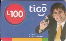 HONDURAS - Man, TIGO Prepaid Card L100, Exp.date 01/07, Used - Honduras