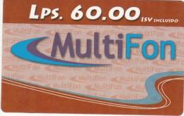 HONDURAS - Multifon Prepaid Card Lps.60, Exp.date 31/12/06, Used - Honduras