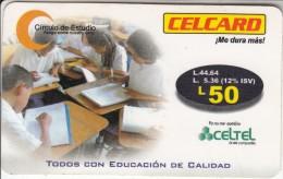 HONDURAS - Circulo De Estudio, CelTel Prepaid Card L.50, Exp.date 12/05, Used - Honduras