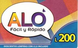 HONDURAS - ALO Prepaid Card L200, Used - Honduras