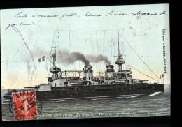 TH BATEAUX Cuirassé Gaulois, Cuirassé 1ère Classe, Marine Militaire, Colorisée, Pub Chocolat Louit, Ed LV&Cie, 1914 - Guerre