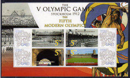 GHANA Personalized Stamps S/Sheet Mnh Olympic Games Stockholm 1912.OpeningCeremony - Summer 1912: Stockholm