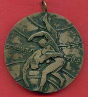 M22 / SOFIA 1971 World Cup  SPORT 2st Prize   Wrestling , Lutte , Ringen Medal Médaille Medaille Bulgaria Bulgarie - Jetons En Medailles
