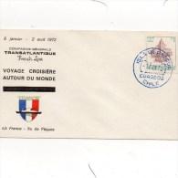 Paquebot France Escale A L'ILE  DE PAQUES Tour Du Monde 1972 - Bateaux
