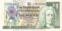 BILLETE DE ESCOCIA DE 1 POUND DEL AÑO 1992  (BANKNOTE) CONMEMORATIVO EUROPEAN SUMMIT 1992 - [ 3] Escocia