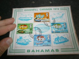"""Bahamas Mini Sheet Nr. 2 """"goodwill Caravan"""" 1970 - Bahamas (1973-...)"""