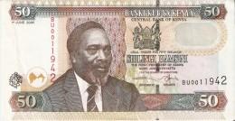 BILLETE DE KENIA DE 50 SHILINGI DEL AÑO 2005 (BANK NOTE) - Kenia