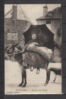 19 - Beaulieu - Retour De Foire - Une Femme Sur Son âne - Parapluie - Pub: Nouvelles Galeries Brive - RARE ! - Frankreich