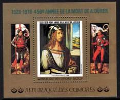 Comores BF N° 15 XX  450ème Anniversaire De La Mort D'Albrecht Dürer, Le  Bloc  Sans Charnière TB - Comores (1975-...)