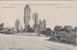 Beninghe      Ruines Van De Kerk     Guerre    1914- 1918 WO I         Scan 6379 - Belgique
