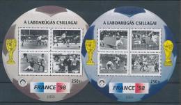 1998. Football Worldcup - Commemorative Sheet Paar  :) - Feuillets Souvenir
