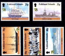 (140 B) Falkland Isl.  Ships / Bateaux / Schiffe / Schepen / Singles **  / Mnh  Michel 741-745 - Falkland Islands