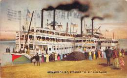 """11763 Steamer """"J.S."""", Steamer """"W.W."""" And Barge - Steamers"""