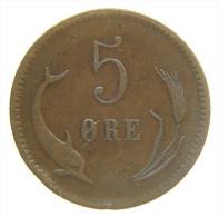 DANIMARCA - DENMARK 5 ORE 1874 CS - Danimarca
