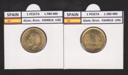 SPAIN /JUAN CARLOS I    1 PESETA  1.980 #80  Aluminium-Bronze  KM#816   Uncirculated  T-DL-9369 - [ 5] 1949-… : Royaume