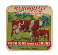 Etiquette De Fromage Caré De L'Est  - Mamirollais  -  Ecole Nationale D´Industrie Laitière  à  Mamirolle   (25) - Käse
