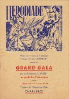 programme au profit des prisonniers 19 mars 1944 � charleroi jules massenet en 4 pages