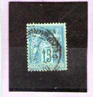 1877 - Groupe Allegorique / SAGE  Tip II  Mi No 73 A Et Yv No 90 - 1876-1898 Sage (Type II)