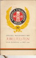 Programme Izegem Nationale Strijdersbond 15 Mei 1949 - Bücher, Zeitschriften, Kataloge