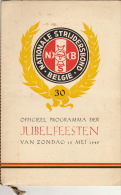 Programme Izegem Nationale Strijdersbond 15 Mei 1949 - Libros, Revistas & Catálogos