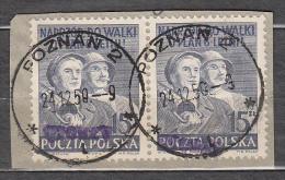 Poland 1950 Mi# 665 Overprint ´groszy´ Poznan - Gebraucht