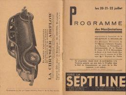 Programme Musique Militaire Guides ... Bruxelles 1934 - Altri