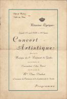 Programme Ville De Malines Mechelen Musique Militaire Regiment Des Guides Prevost - Other