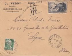 LOIRE ENV 1947 BUSSIERES RECOMMANDEE PROVISOIRE - 1921-1960: Periodo Moderno