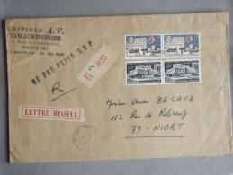 Enveloppe Recommandée UIT Et Maison Des Jeunes De La Culture, Lettre Missive - 1961-....
