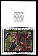 FRANCE  1967 - Y&T 1531  -  Ste Madeleine   -  NEUF** Haut De Feuille  - Cote 0.50e - Unused Stamps