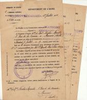 3 Convocation Dommage De Guerre Wassigny Mennevret Morcrettemamers Pigou Vaux Andigny - Documents