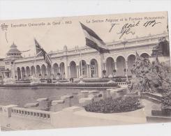 GAND EPO 1913 LA SECTION ANGLAISE ET LA FONTAINE MONUMETALE - Gent