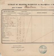 Extrait Matricule Des Sous Officier Du 6èm Régiment De Ligne Malines Mechelen 1886 Baudson - Documents