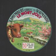 Etiquette De Fromage Camembert  -  Le Mont Joly   -   SLN  (27 R) - Fromage
