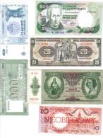 Liban 1000 Livres + Moldovei 5 Lei + Magyar 10 Pengo + Ecuador 20 Sucres + Polsky 10 Zlotych + Colombia 200   LOTTO 1172 - Libano